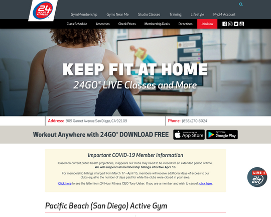 24 Hour Fitness (Pacific Beach, San Diego)