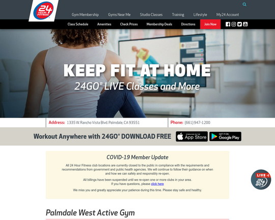 24 Hour Fitness (West Palmdale)